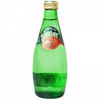 巴黎水(Perrier)天然含气矿泉水(原味)气泡水 330ml 法国进口
