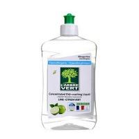 绿柏薇 浓缩洗洁精(青柠香型)法国原装进口绿色环保高效去油洗洁精 500ml