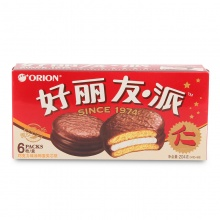 好丽友 巧克力派 204g/盒